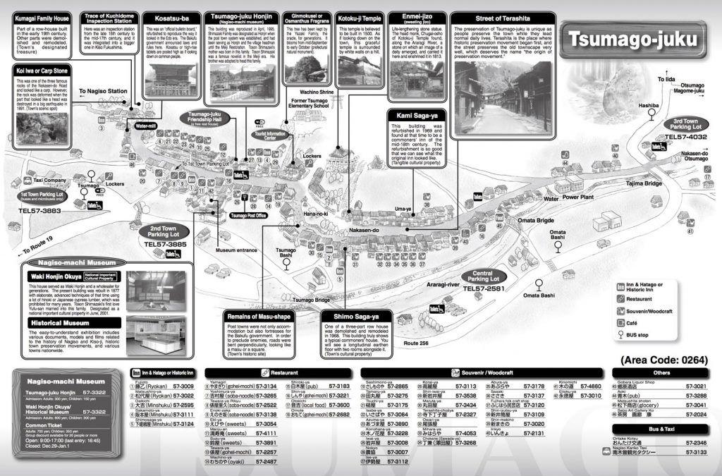 Mapa turístico de Tsumago