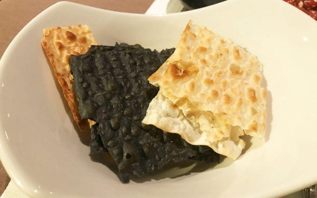 Pan para el tartar de atún