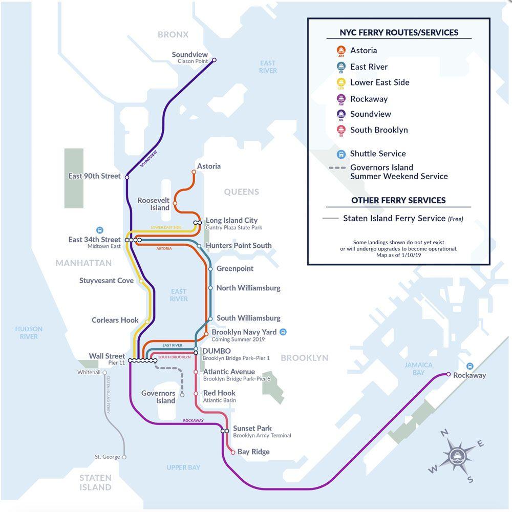 Transporte en Nueva York: Rutas NYC Ferry