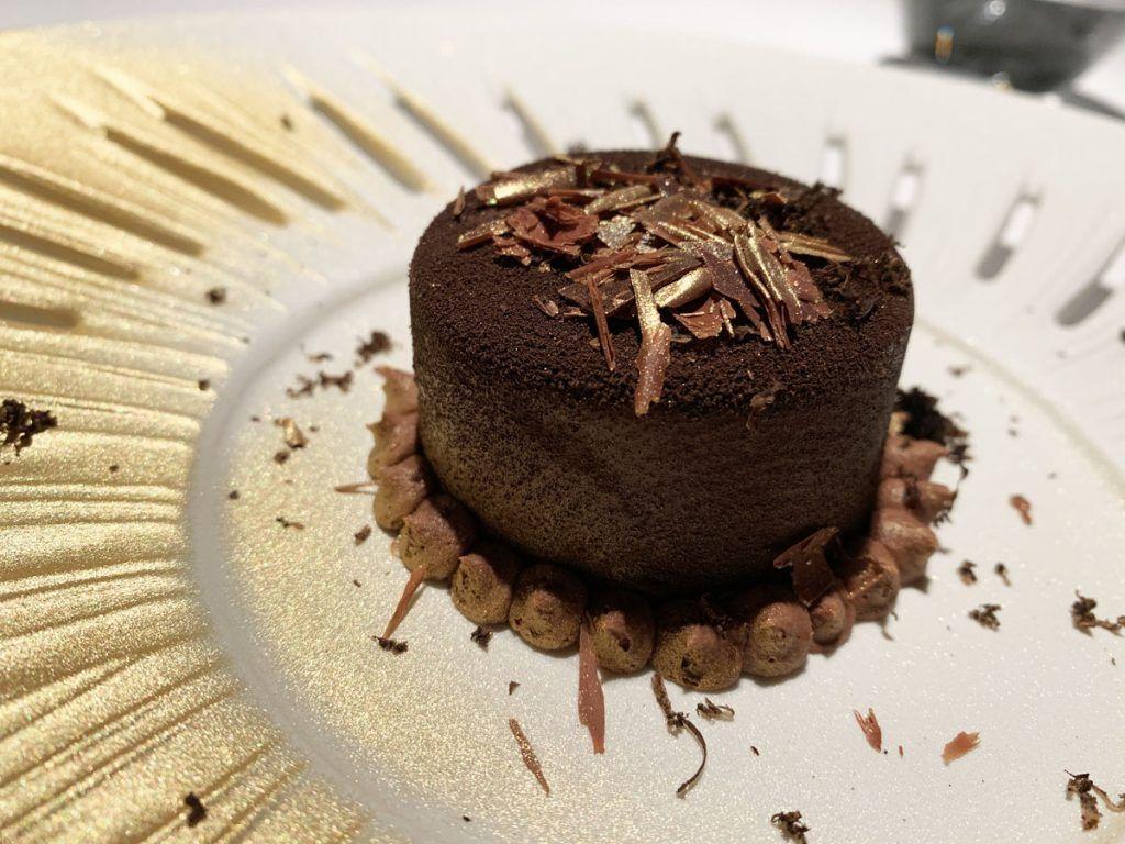 Tarta de chocolate trufada