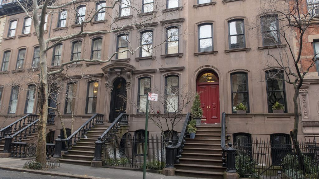 Fachadas en Greenwich Village - dónde dormir barato en Nueva York