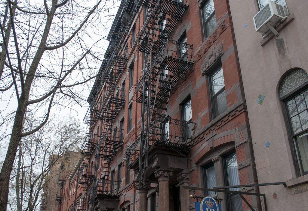 Fachadas en Greenwich Village - mapa de nueva york