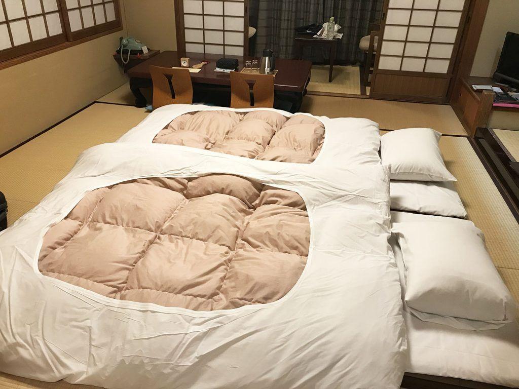 Dormir en un ryokan: el futón - cuánto cuesta un viaje a Japón - curiosidades de Japón