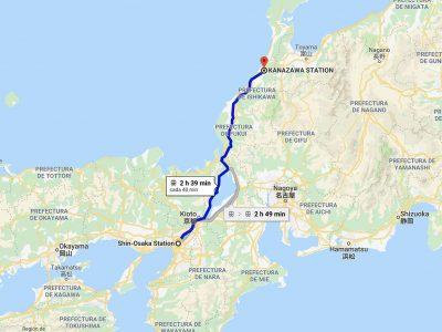 Cómo ir de Osaka a Kanazawa [OPCIONES + PRECIOS + DURACIÓN]