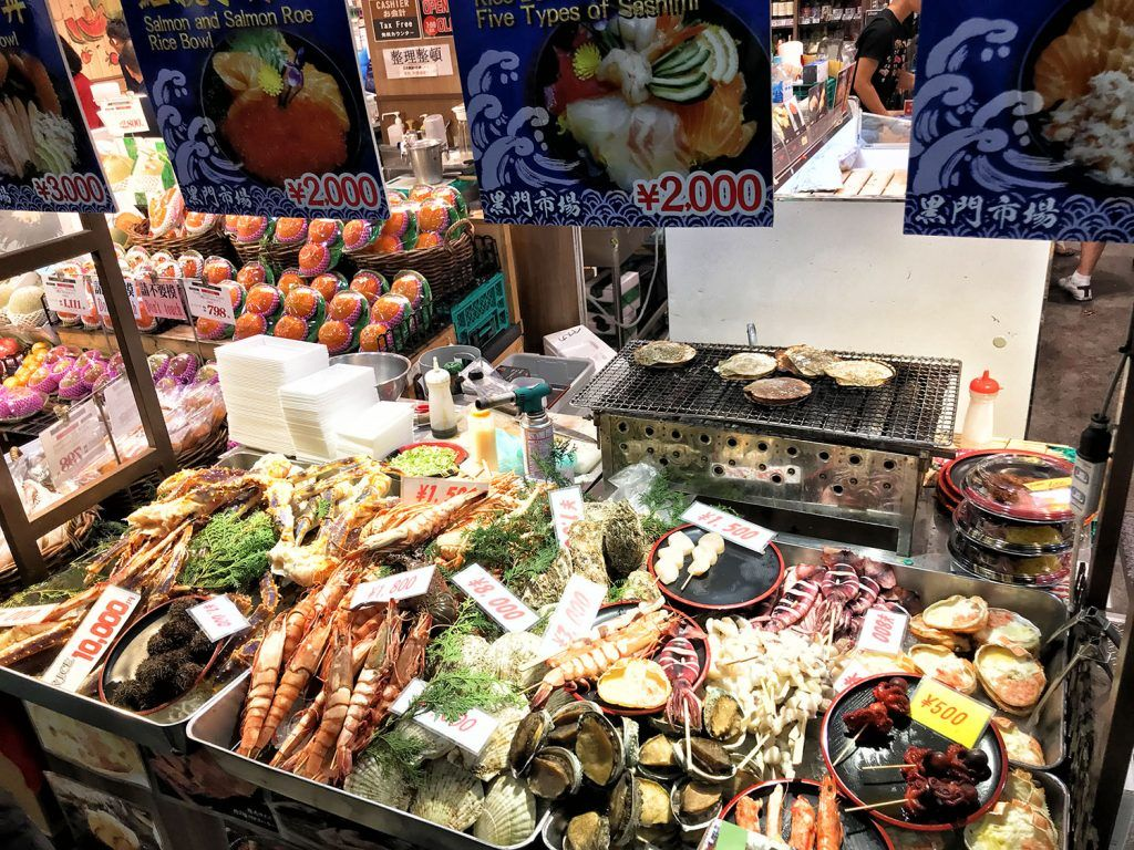Dónde comer en Osaka: Kuromon Market