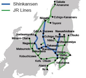 Transporte en Japón: JR East Pass Niigata Area