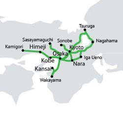 Transporte en Japón: JR Kansai Pass