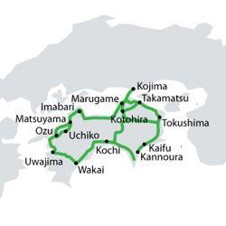 Transporte en Japón: All Shikoku Pass
