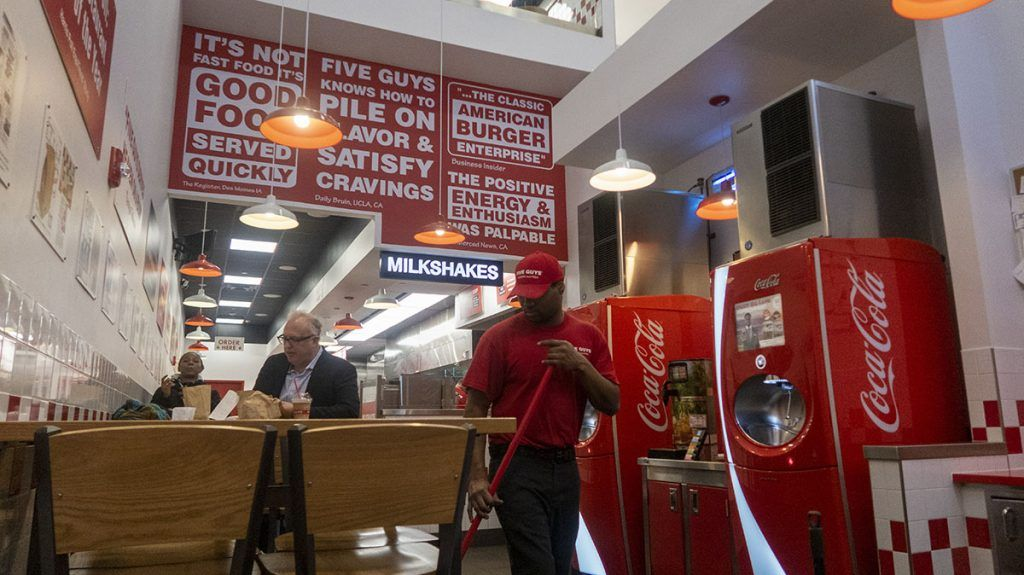 ¿Dónde está la mejor hamburguesa de Nueva York? Five Guys