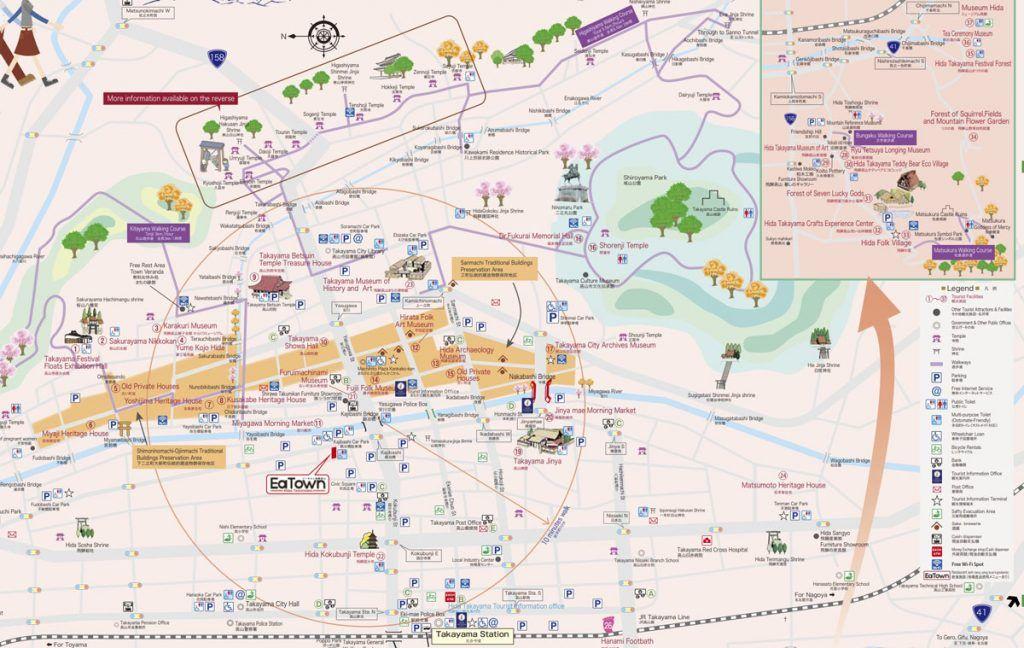 Qué ver en Takayama: walking map