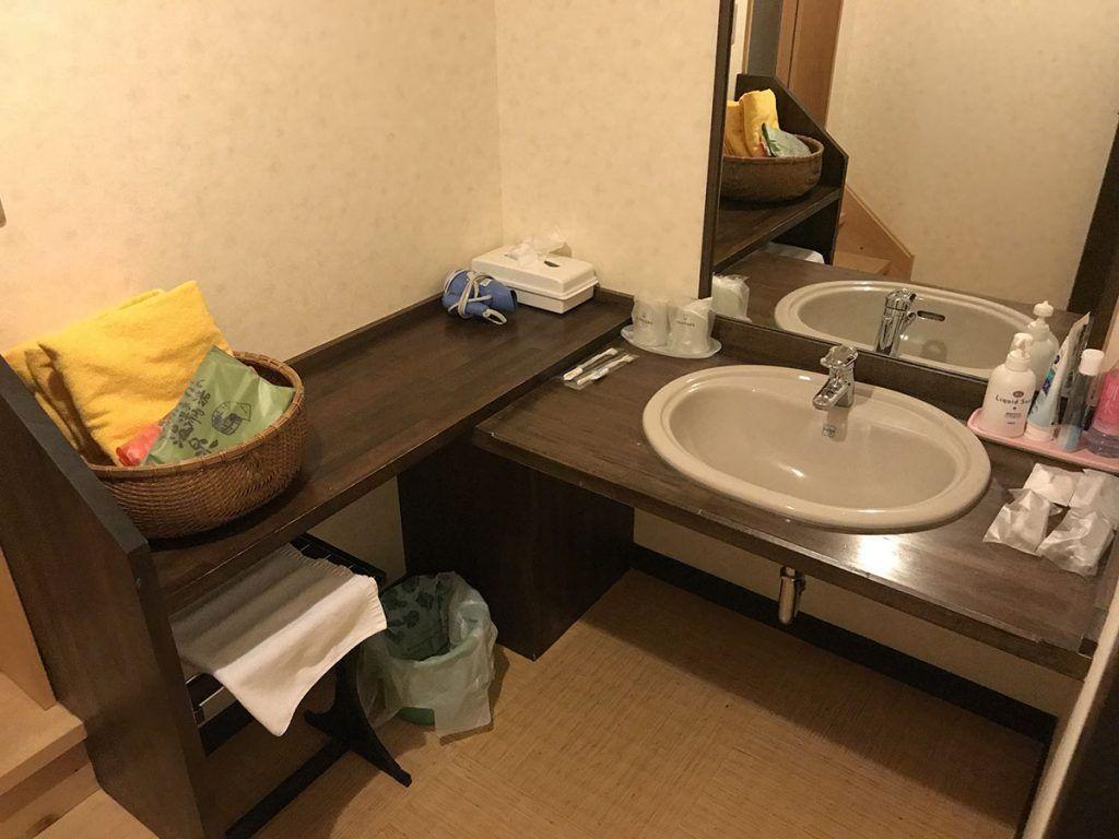 Nuestro baño en el Hiratakan