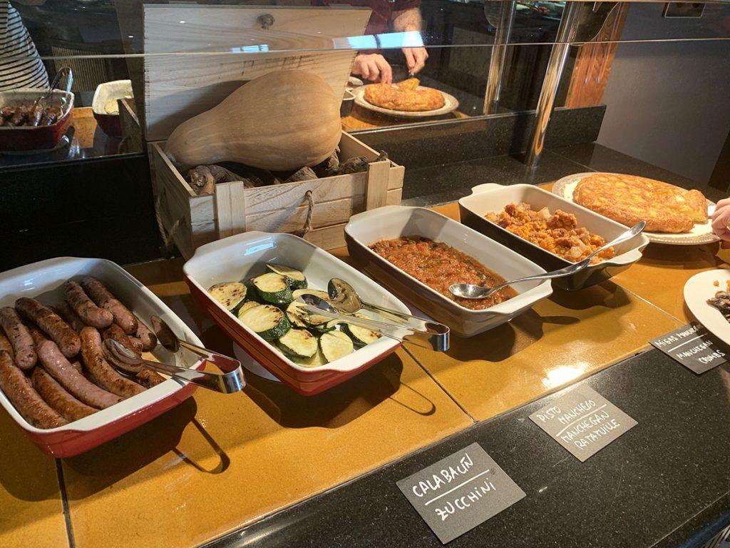 Desayuno del hotel La Caminera