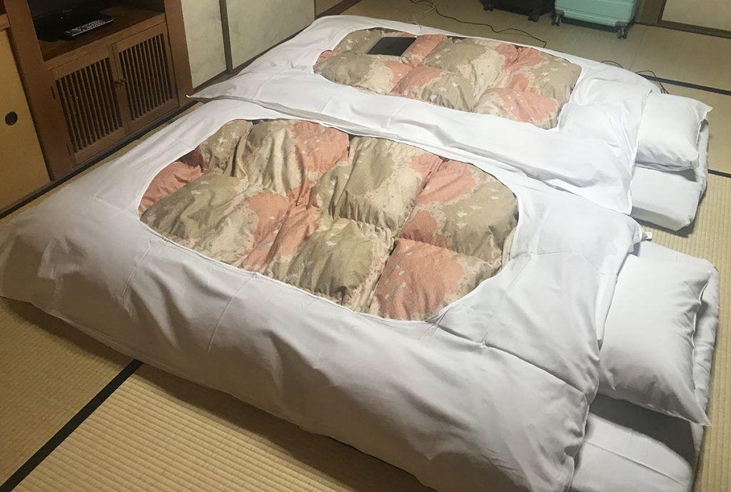 El futón del Yunoshimakan