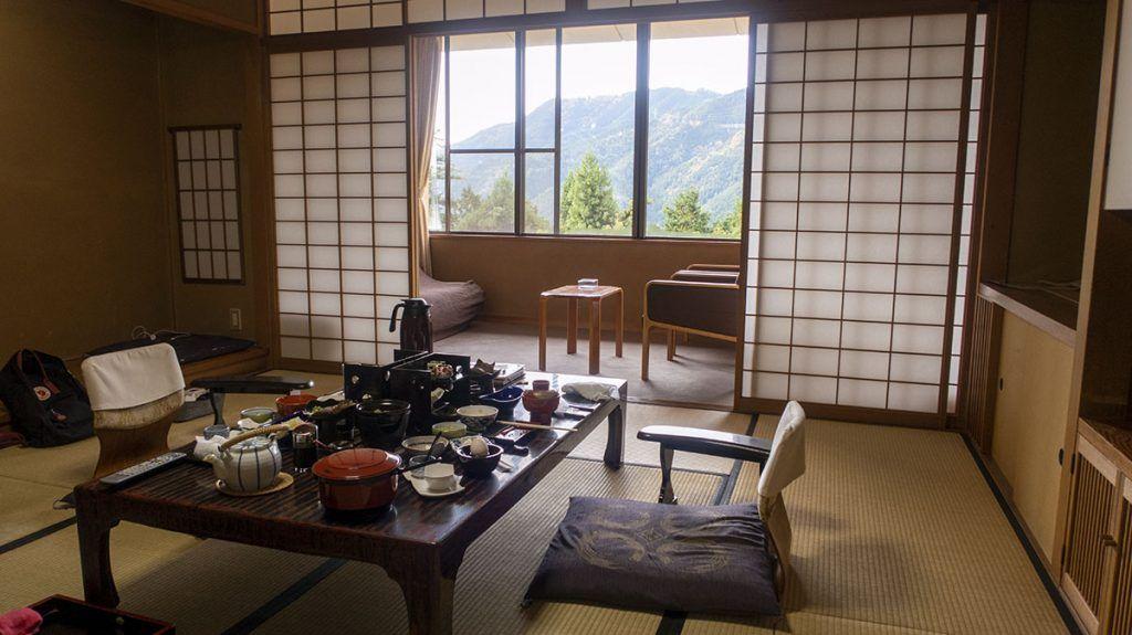 Nuestra habitación en Yunoshimakan - consejos para viajar a Japón