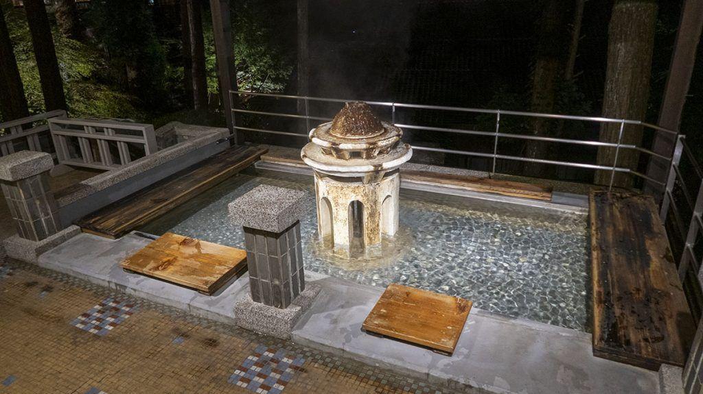Baño de pies del Yunoshimakan