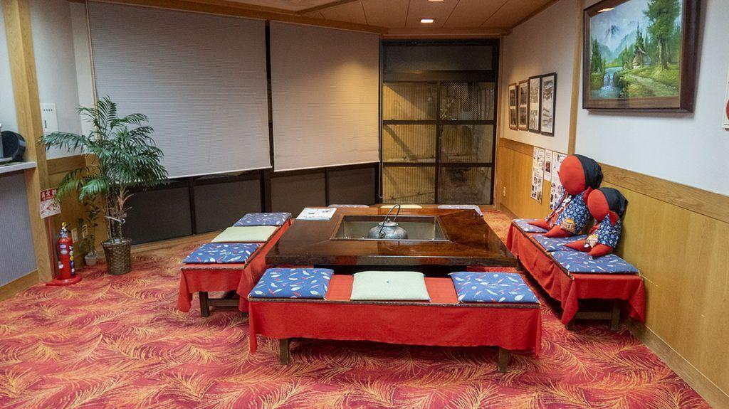 Recepción del hotel Hiratakan