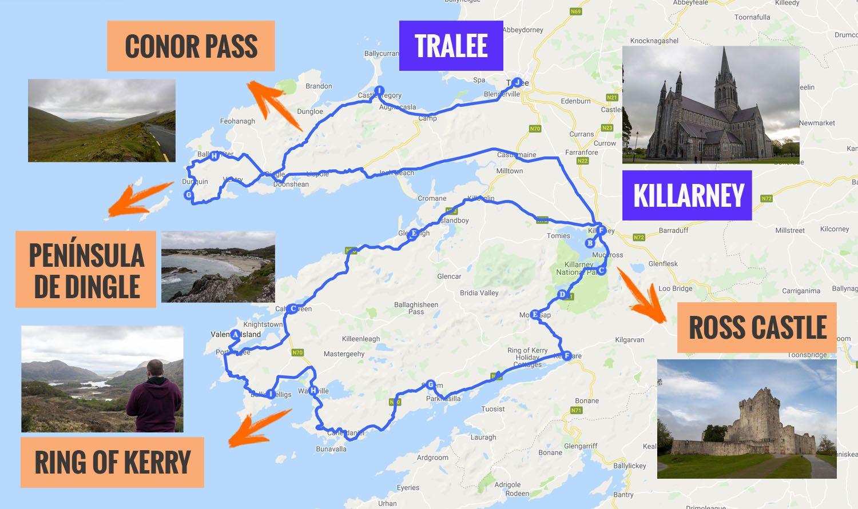 Anillo De Kerry Mapa.Ruta Por Irlanda Ring Of Kerry Mapa Que Ver Video