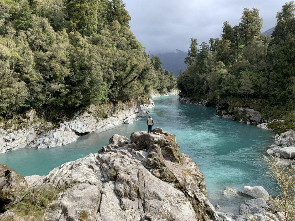 Viajar a Nueva Zelanda: Hokitika Gorge - cuanto cuesta un viaje a nueva zelanda