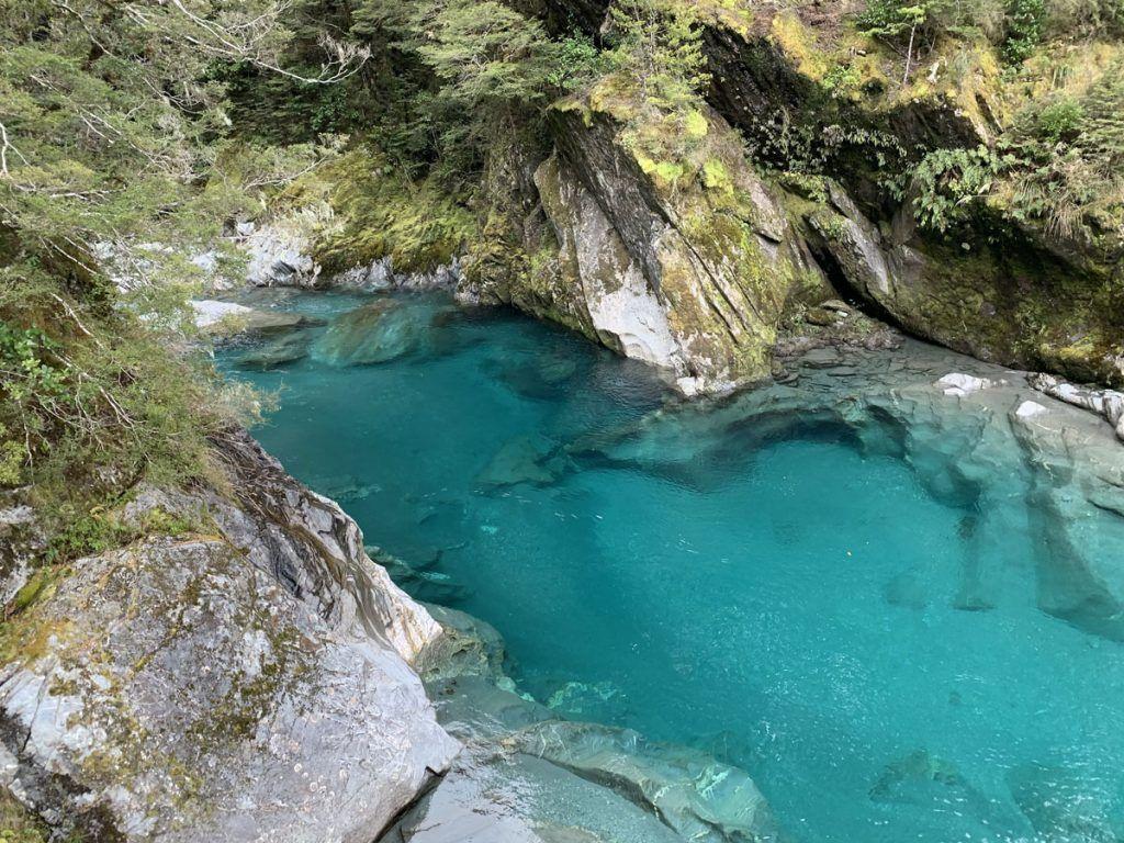 Viajar a Nueva Zelanda: Blue Pools