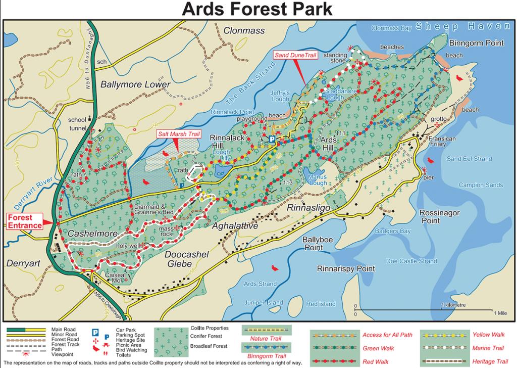 Mapa de Ards Forest Park