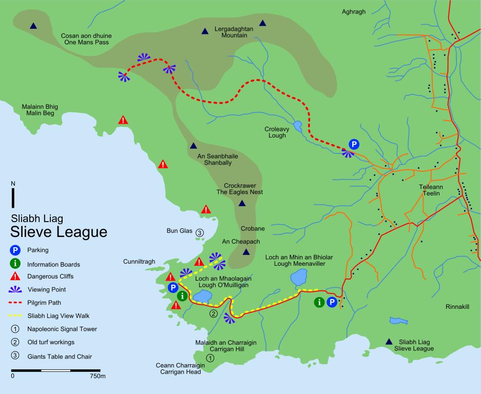 Mapa de trails por Slieve League
