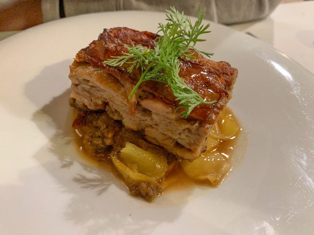 Comida en el Restaurante El Monje
