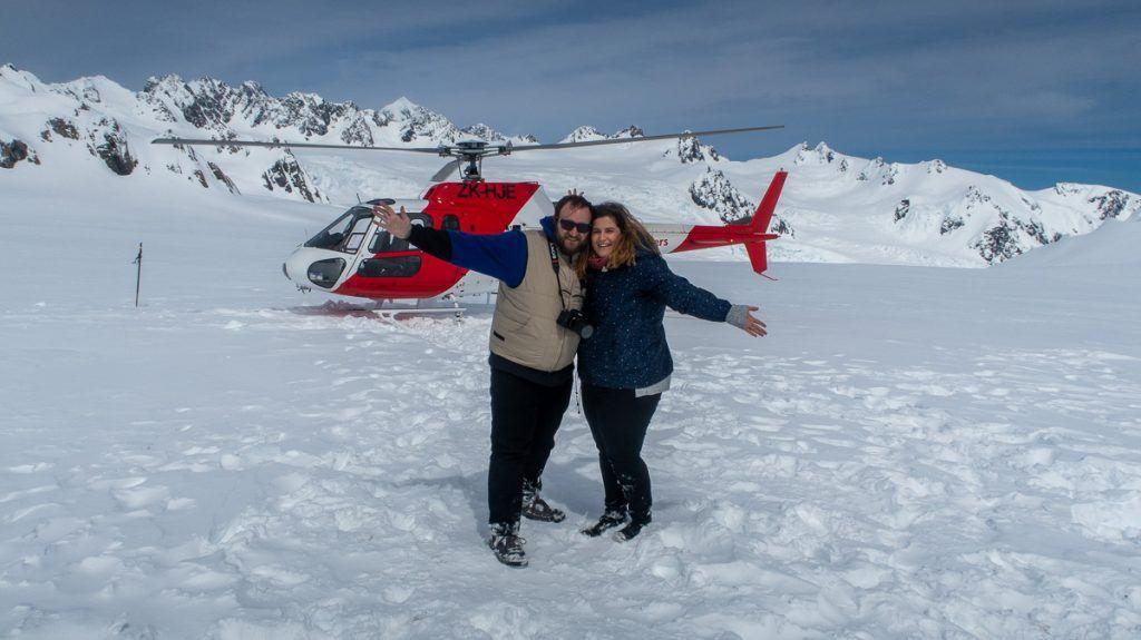 Ruta por Nueva Zelanda: Glaciares en helicóptero