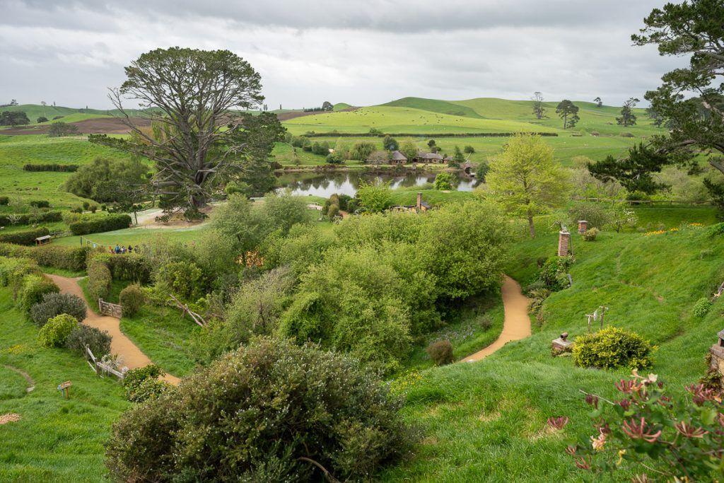 Visitar Hobbitton: vista completa
