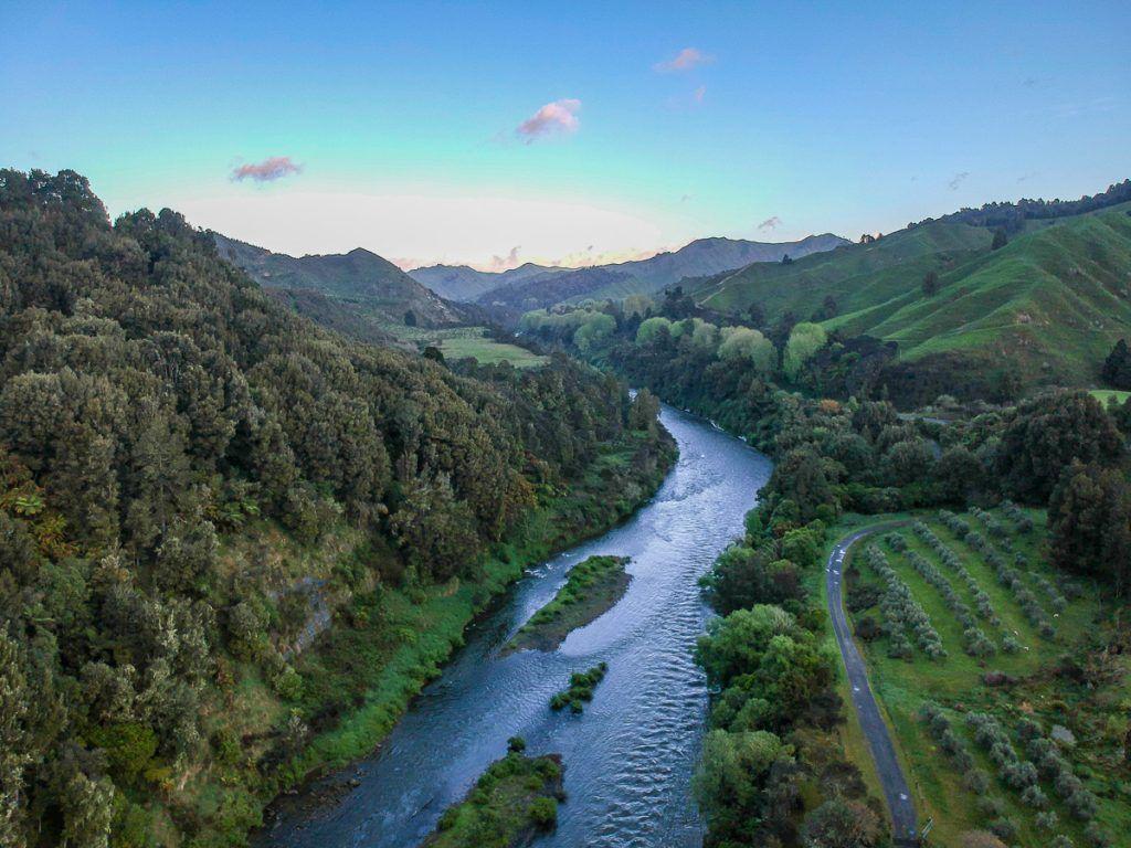 Etapa 3 por NZ entre la Forgotten World Highway y Wellington: nuestro campsite de la noche anterior
