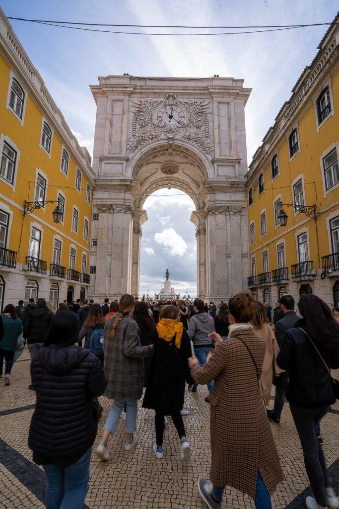 Qué ver en Lisboa: arco de la via Augusta - dónde dormir en Lisboa