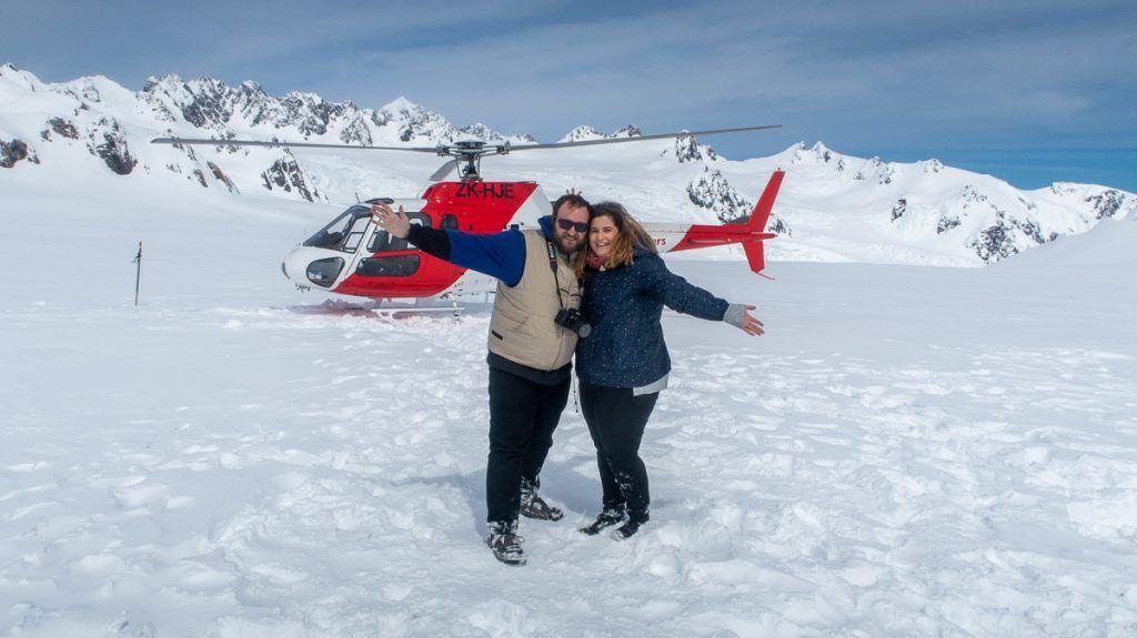 Glaciares de Nueva Zelanda en helicóptero