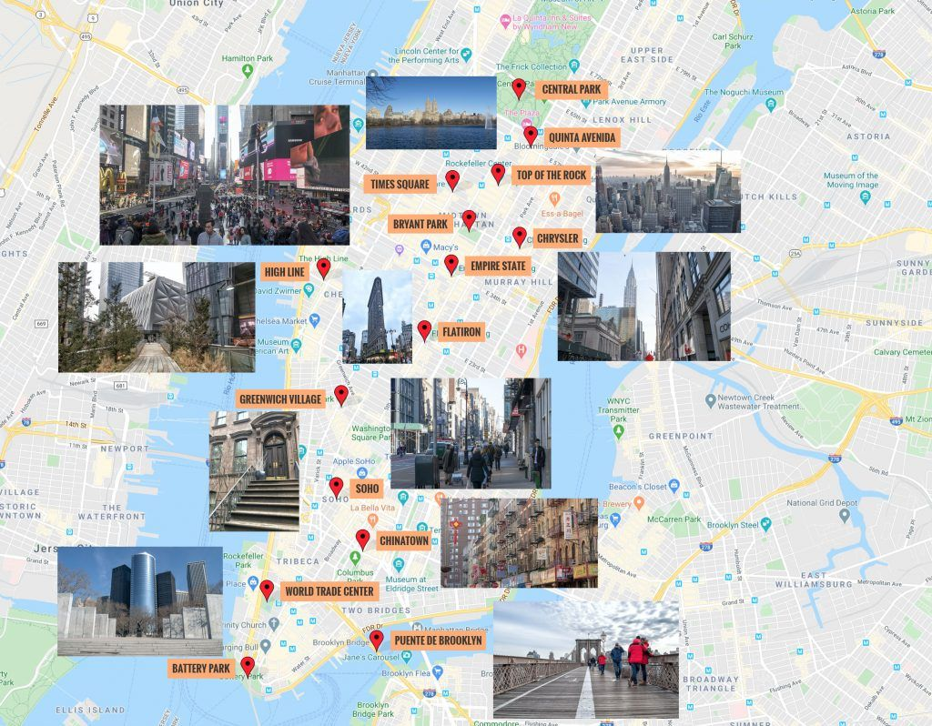 Mapa de Nueva York