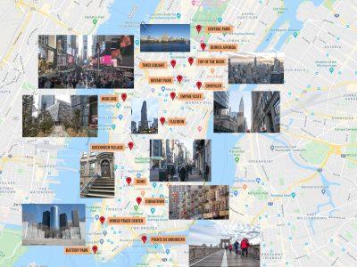 Mapa de Nueva York [QUÉ VER + PUNTOS DE INTERÉS]
