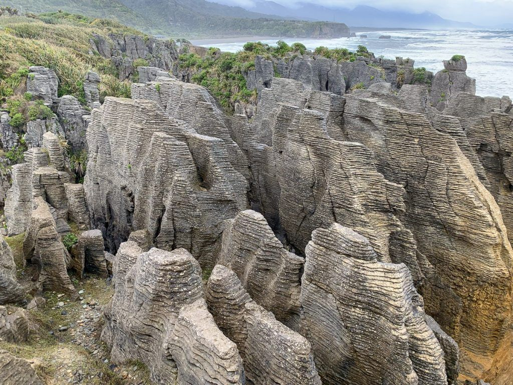 Etapa 5 por NZ recorriendo la West Coast: Pancake Rocks