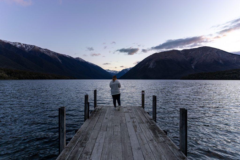 Etapa 4 por NZ entre Wellington y Nelson Lakes: Lago Rotoiti
