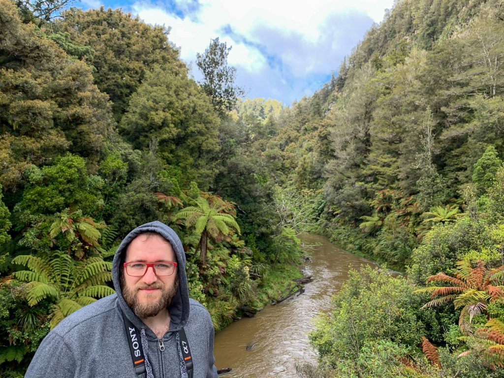 Etapa 3 por NZ entre la Forgotten World Highway y Wellington: Tangarakau Gorge