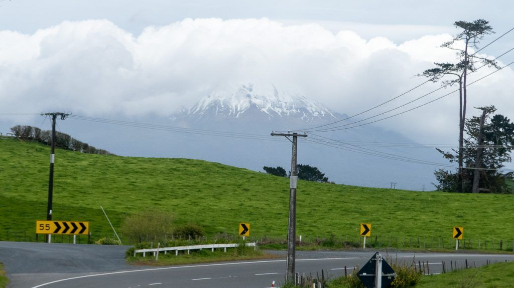Etapa 3 por NZ entre la Forgotten World Highway y Wellington: Monte Taranaki