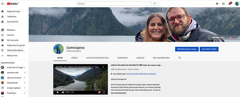 Cómo crear un blog de viajes y vivir de él: Comiviajeros en Youtube