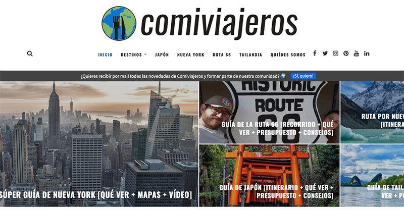 Cómo crear un blog de viajes y vivir de él: Comiviajeros