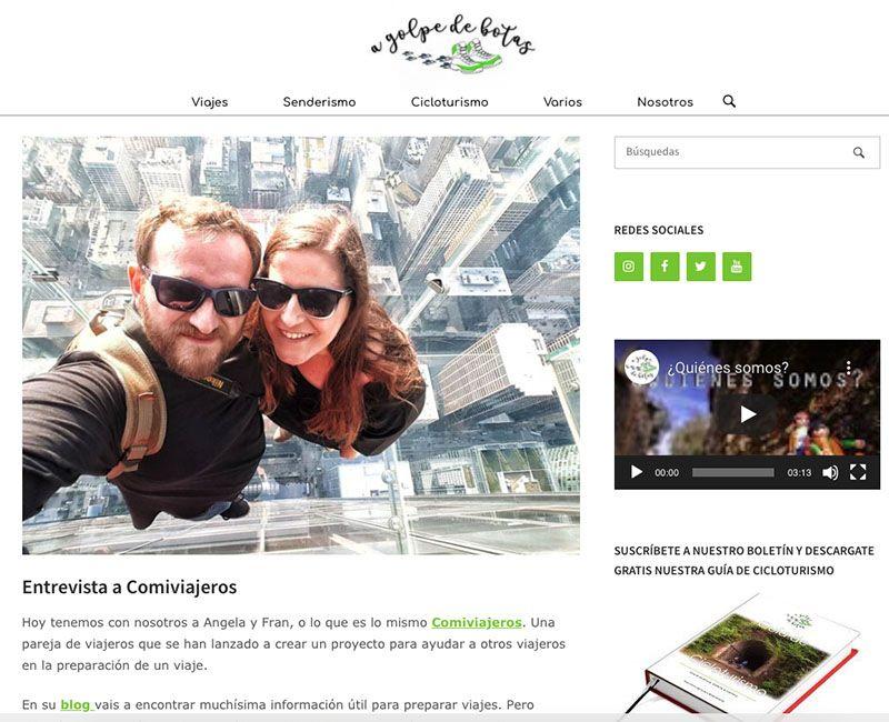 Cómo crear un blog de viajes y vivir de él: Esta es la entrevista que nos hicieron los chicos de A Golpe de Botas