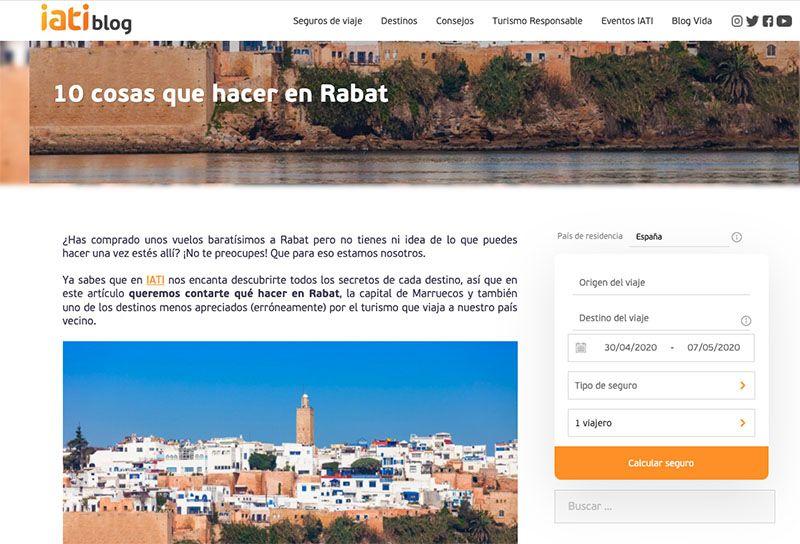 Cómo crear un blog de viajes y vivir de él: Post de Comiviajeros en el blog de IATI