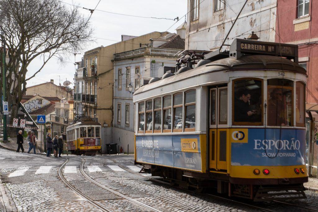 Transporte en Lisboa: tranvía en la Alfama - dónde dormir en Lisboa