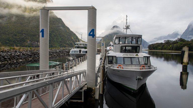 Crucero por Milford Sound: nuestro barco