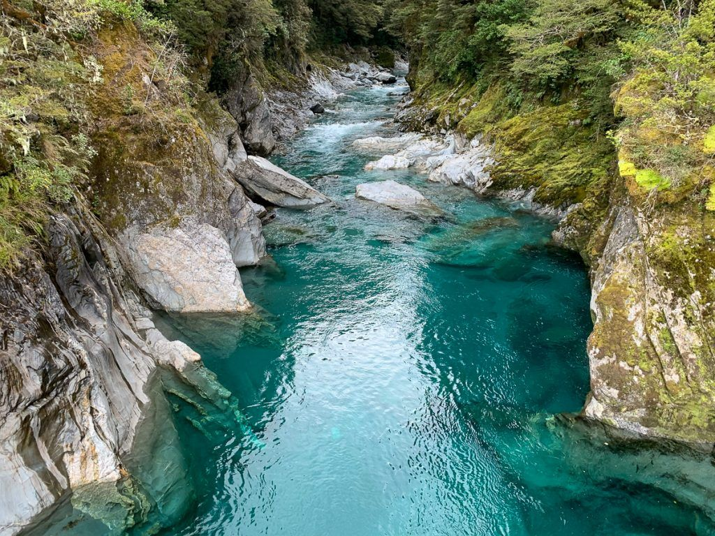 Etapa 7 por NZ desde Haast a Wanaka: Blue Pools