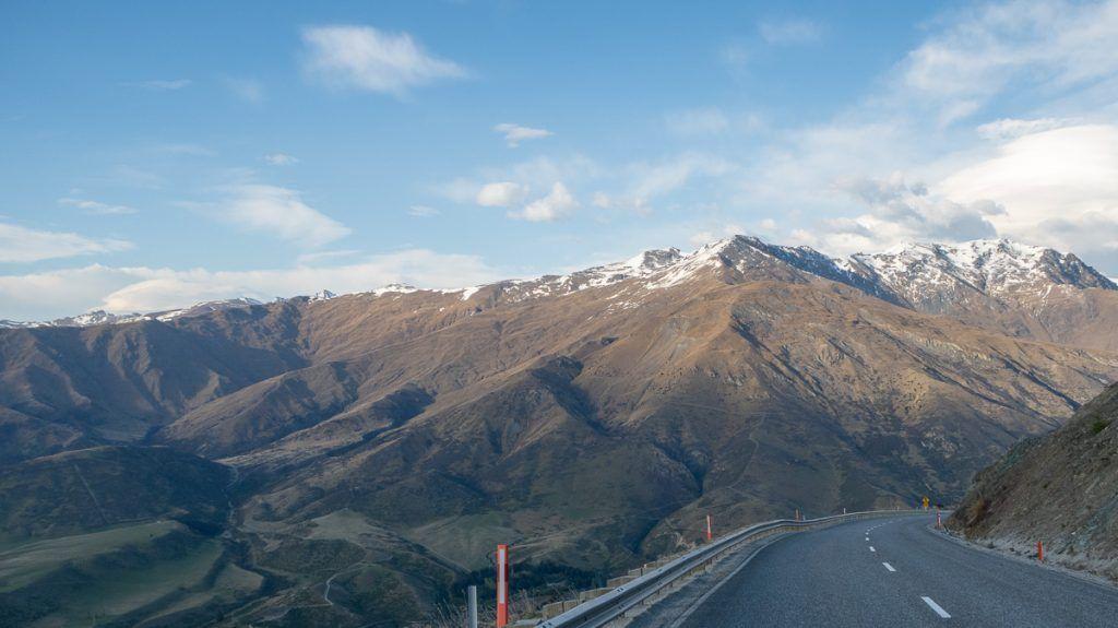 Etapa 8 por NZ desde Wanaka a Glenorchy: Crown Range Pass