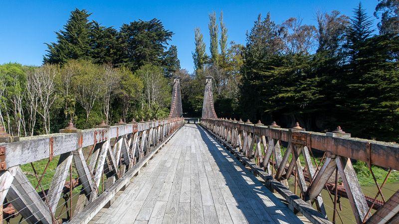 Etapa 10 por NZ desde Milford Sound a Slope Point: Clifden Bridge