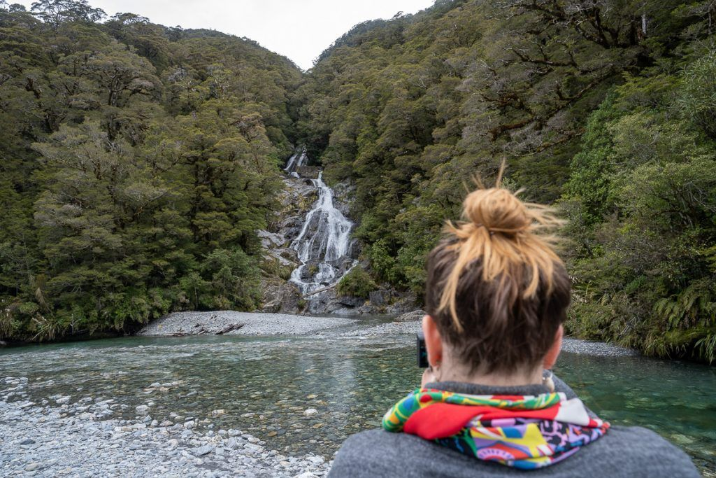 Etapa 7 por NZ desde Haast a Wanaka: Fantail Falls