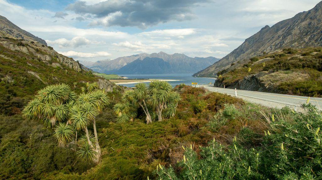 Etapa 7 por NZ desde Haast a Wanaka: Lago Hawea y The Neck