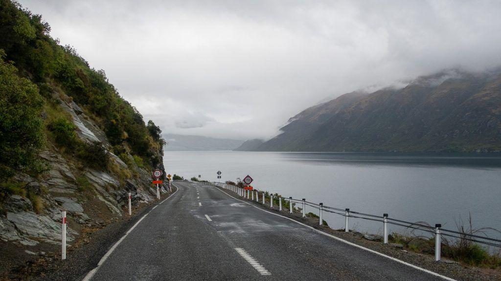 Etapa 8 por NZ desde Wanaka a Glenorchy: de camino a Glenorchy