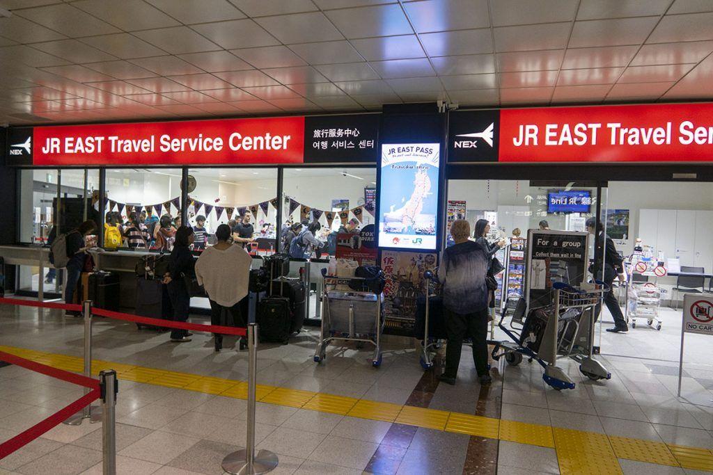 Oficina del Japan Rail Pass en el aeropuerto de Narita